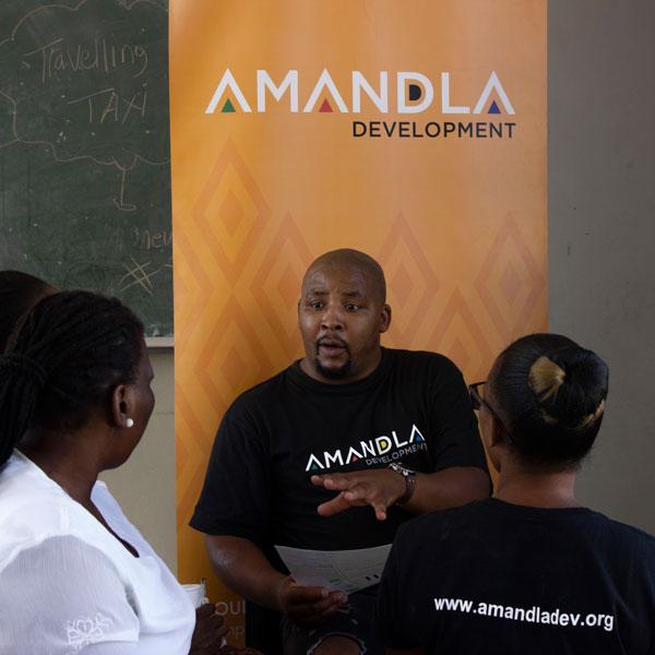 Amandla man talking press kit